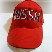 """Аксессуары ручной работы. Ярмарка Мастеров - ручная работа Бейсболка """"RUSSIA"""". Handmade."""