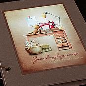 """Канцелярские товары ручной работы. Ярмарка Мастеров - ручная работа Блокнот """"Записки рукодельницы"""". Handmade."""