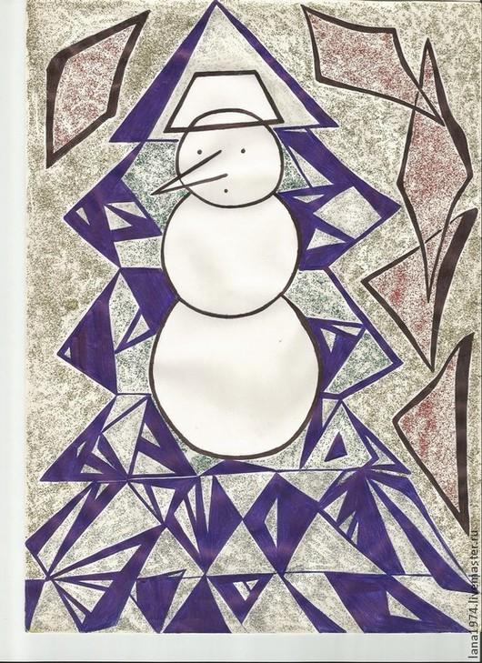 Новый год 2017 ручной работы. Ярмарка Мастеров - ручная работа. Купить Снеговичок. Handmade. Новый Год, снеговик, ручки, карандаш
