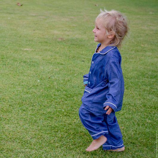 Одежда для мальчиков, ручной работы. Ярмарка Мастеров - ручная работа. Купить Детская пижама Classic Pajamas BLU. Handmade. В полоску