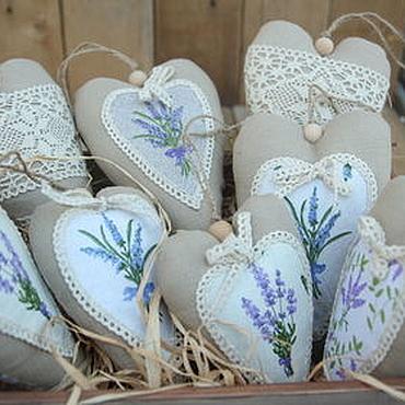 Куклы и игрушки ручной работы. Ярмарка Мастеров - ручная работа Лавандовые сердечки тильда. Handmade.