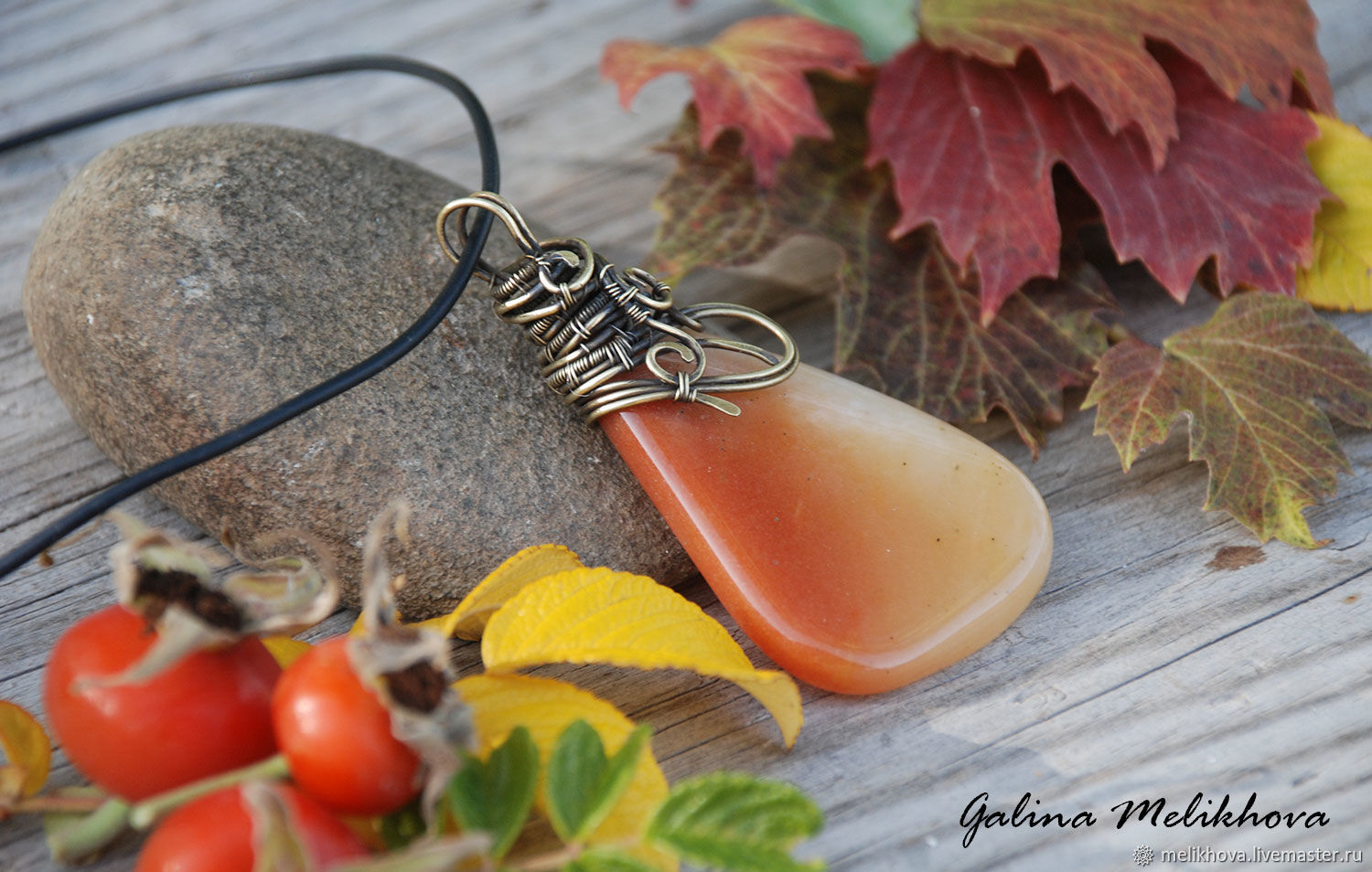Copy of Copy of Copy of Pendant 'Heart of the ocean', copper, agate, Pendants, Moscow,  Фото №1