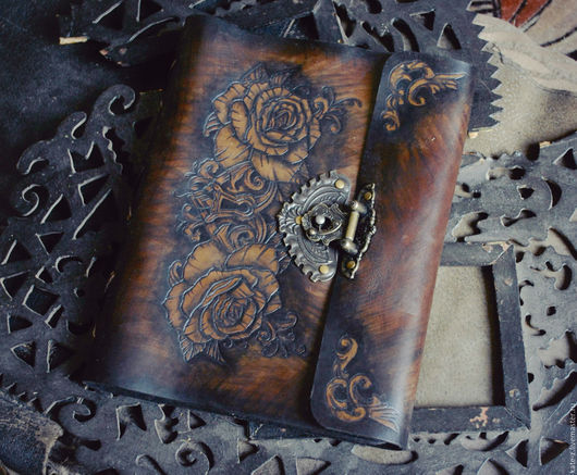 Блокноты ручной работы. Ярмарка Мастеров - ручная работа. Купить Старинный блокнот. Handmade. Коричневый, блокнот для записей, ежедневник, подарок