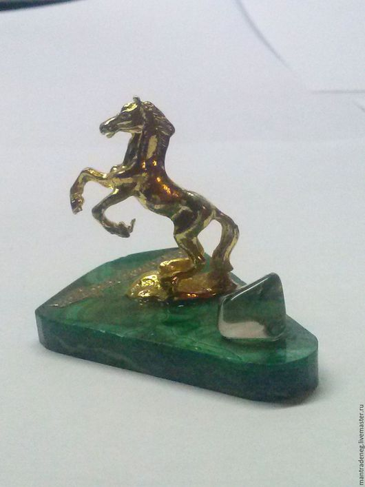 Статуэтки ручной работы. Ярмарка Мастеров - ручная работа. Купить Лошадь Малахит природный ,Силы и Власти 7х5см. Handmade.