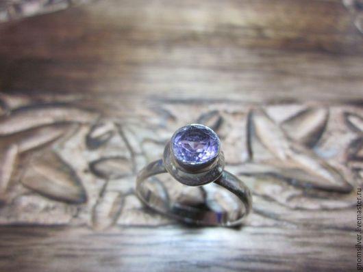 Кольца ручной работы. Ярмарка Мастеров - ручная работа. Купить Кольцо с фиолетовым аметистом из Бразилии. Handmade. Фиолетовый