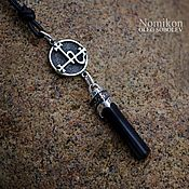 Фен-шуй и эзотерика handmade. Livemaster - original item Sigil of Lilith in the form of suspension/pendulum silver and black tourmaline. Handmade.