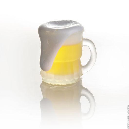 """Мыло ручной работы. Ярмарка Мастеров - ручная работа. Купить Мыло ручной работы """"Пиво"""". Handmade. Желтый, оригинальный подарок"""