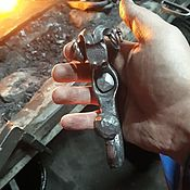 handmade. Livemaster - original item Forged hook with a RAM`s head forged nail. Handmade.