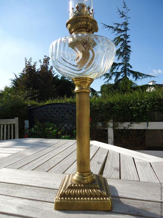 Винтажные предметы интерьера. Ярмарка Мастеров - ручная работа. Купить Антиквариат. Старинная керосиновая лампа бронза латунь Франция. Handmade.
