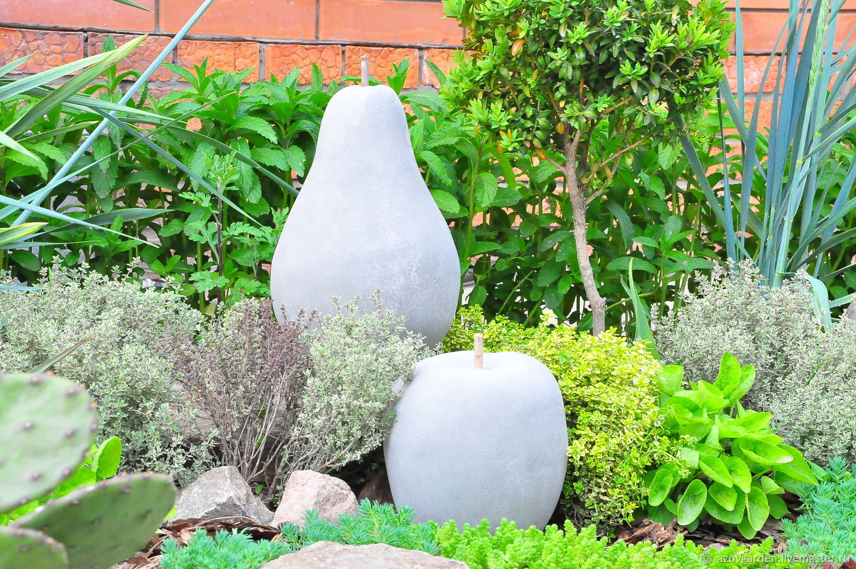 Apple and Pear concrete set of 2 PCs garden decor Provence, Figurines, Azov,  Фото №1