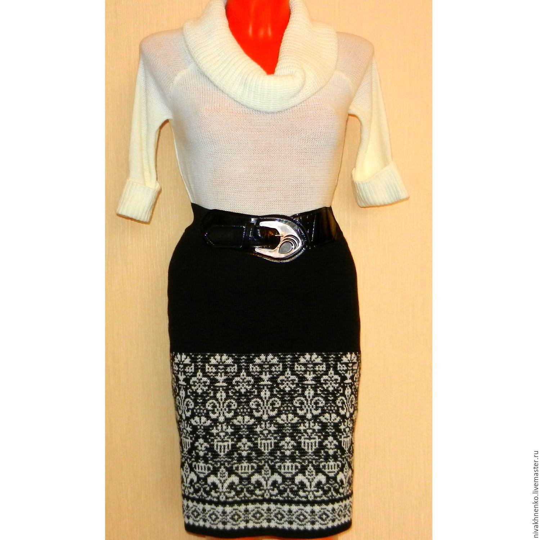 Ручная вязка юбки