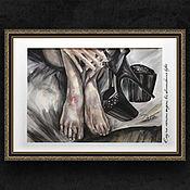 """Картины ручной работы. Ярмарка Мастеров - ручная работа Картина акварелью """"После танца"""". Handmade."""