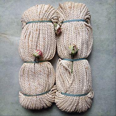 Материалы для творчества ручной работы. Ярмарка Мастеров - ручная работа Старинный французский шнур тесьма косичка. Handmade.