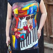 Одежда ручной работы. Ярмарка Мастеров - ручная работа Мы из джаза платье шелковое. Handmade.