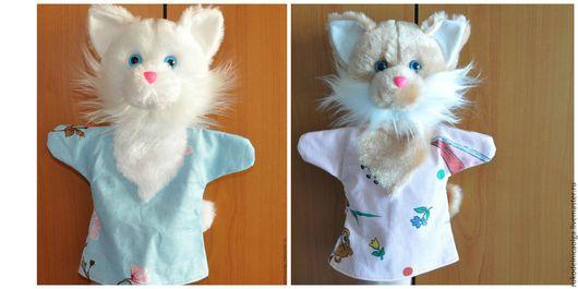 """Кукольный театр ручной работы. Ярмарка Мастеров - ручная работа. Купить """"Кошка"""" Кукольный театра на руку. Handmade. Разноцветный"""