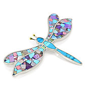 Украшения handmade. Livemaster - original item brooch Dragonfly. Brooch with turquoise, charoite, mother of pearl, rhodonite.. Handmade.
