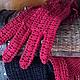 """Варежки, митенки, перчатки ручной работы. Перчатки """"Красный ажур"""".. Таня Эрдоган (Sanat). Ярмарка Мастеров. Ажурные перчатки"""