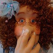 Для дома и интерьера ручной работы. Ярмарка Мастеров - ручная работа Текстильная кукла Лизавета-держатель для туалетной бумаги(мадам фу-фу). Handmade.