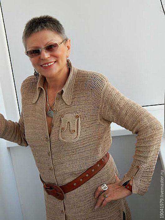 Рубашка вязанная крючком