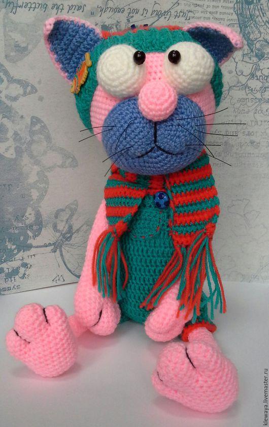 Игрушки животные, ручной работы. Ярмарка Мастеров - ручная работа. Купить Розовый кот. Handmade. Кремовый, Вязание крючком