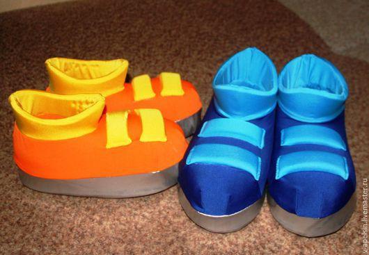 Карнавальные костюмы ручной работы. Ярмарка Мастеров - ручная работа. Купить Ботинки для Фиксиков. Handmade. Разноцветный, обувь ручной работы