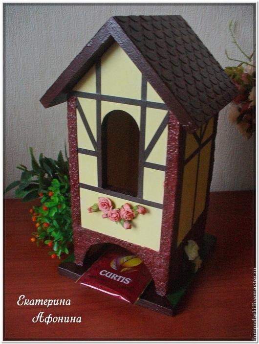 Кухня ручной работы. Ярмарка Мастеров - ручная работа. Купить Чайный домик Дом с розами. Handmade. Коричневый, подарок