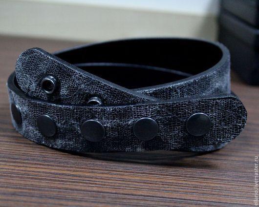 Пояса, ремни ручной работы. Ярмарка Мастеров - ручная работа. Купить Ремень кожаный. Handmade. Темно-серый, ремень кожаный