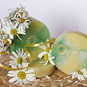 Косметика ручной работы handmade. Livemaster - original item Handmade soap from scratch with natural Chamomile floral white wreath. Handmade.