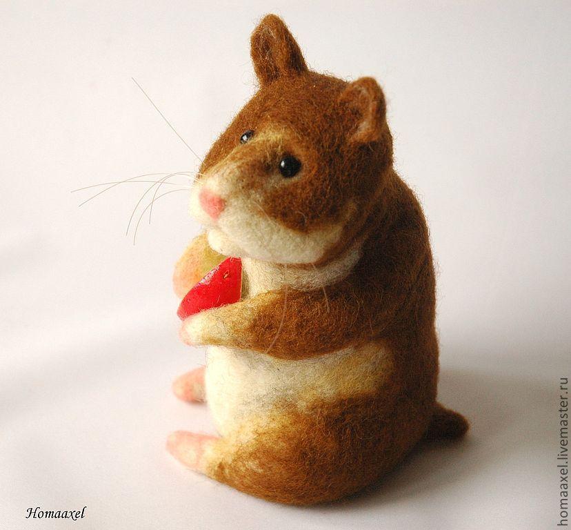Felt Hamster toy, Felted Toy, Heidelberg,  Фото №1