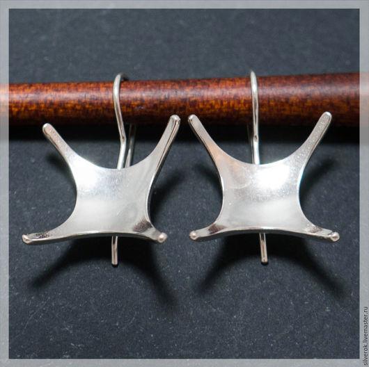 Для украшений ручной работы. Ярмарка Мастеров - ручная работа. Купить Швензы основа для серег Звезда серебряная  925 пробы. Handmade.