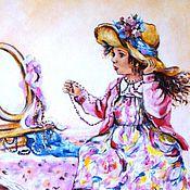 """Картины и панно ручной работы. Ярмарка Мастеров - ручная работа """"Мамина модница"""" картина для детской  комнаты. Handmade."""