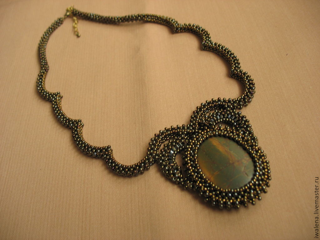 Necklace with Picasso Jasper, Necklace, St. Petersburg,  Фото №1