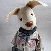 Куклы и игрушки ручной работы. Ярмарка Мастеров - ручная работа Зайка Тотошка 40 см. Handmade.