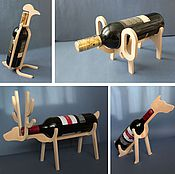 Для дома и интерьера handmade. Livemaster - original item Stand for bottles in the form of a stylized animal. Handmade.
