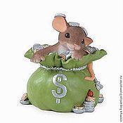 """Материалы для творчества handmade. Livemaster - original item Силиконовая форма для мыла  """"Мышка в мешке с деньгами"""". Handmade."""