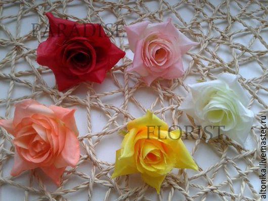 Материалы для флористики ручной работы. Ярмарка Мастеров - ручная работа. Купить Роза 3см. Handmade. Бледно-розовый, розовые цветы