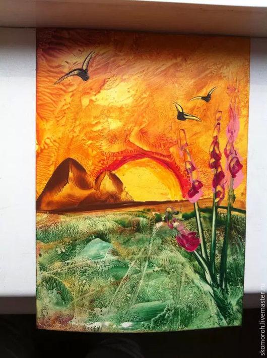 Фантазийные сюжеты ручной работы. Ярмарка Мастеров - ручная работа. Купить Восковые пейзажи. Handmade. Рыжий, оригинальные подарки, цветы