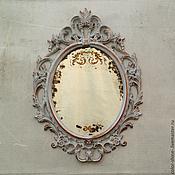 """Для дома и интерьера ручной работы. Ярмарка Мастеров - ручная работа Французское зеркало """"Тур ля Виль"""" в стиле шебби- шик. Handmade."""