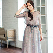 Одежда handmade. Livemaster - original item Dress of silk chiffon with contrast trim. Handmade.