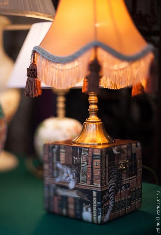 Освещение ручной работы. Ярмарка Мастеров - ручная работа. Купить Котолампа. Handmade. Настольная лампа, лампа в подарок, котики