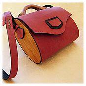 Сумки и аксессуары handmade. Livemaster - original item Handbag made of leather and wood