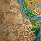 Картина в технике витражной росписи по стеклу с использованием перламутровых и красок металлик по стеклу и керамике. При ярком освещении краски блестят и искрятся...