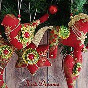 """Подарки к праздникам ручной работы. Ярмарка Мастеров - ручная работа Набор новогодних игрушек """"Праздничный"""". Handmade."""