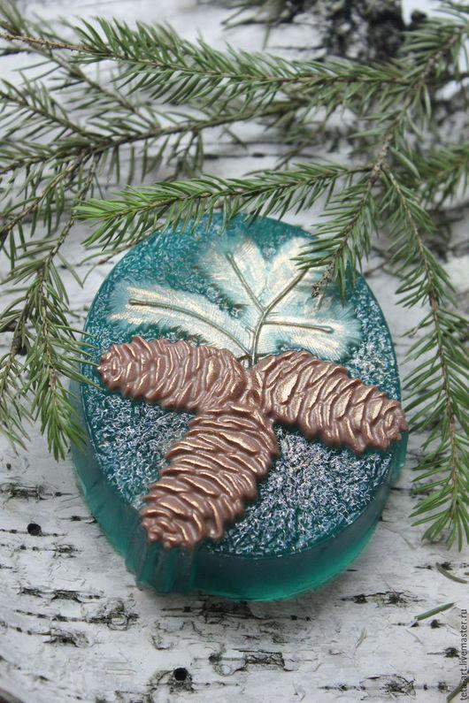 Мыло ручной работы. Ярмарка Мастеров - ручная работа. Купить Новогоднее мыло. Handmade. Зеленый, новогоднее мыло, новогодний подарок