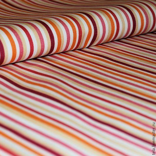 Красная полоска. Хлопок 100%. Ткань для шитья, рукоделия.  Есть в наличии 1,7 м.