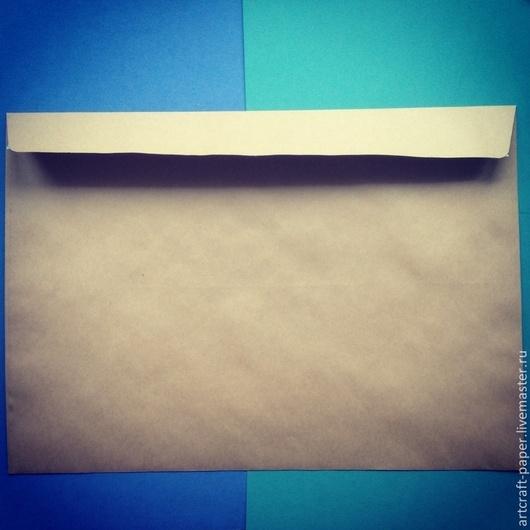 Упаковка ручной работы. Ярмарка Мастеров - ручная работа. Купить Большой крафт-конверт. Handmade. Коричневый, крафт-конверт, конверт