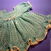 Работы для детей, ручной работы. Ярмарка Мастеров - ручная работа Бирюзовое платье. Handmade.