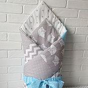 """Конверты на выписку ручной работы. Ярмарка Мастеров - ручная работа Конверт-одеяло """"Совы"""". Handmade."""