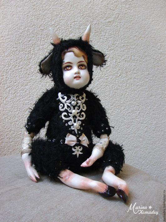 Коллекционные куклы ручной работы. Ярмарка Мастеров - ручная работа. Купить Фавн темный. Handmade. Черный, купить подарок девушке