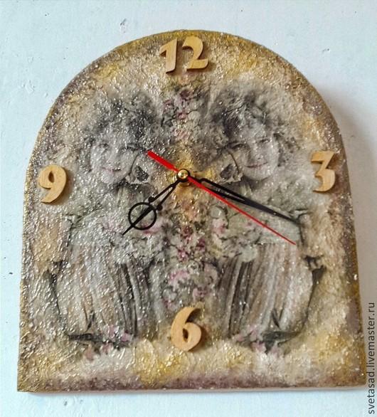 """Часы для дома ручной работы. Ярмарка Мастеров - ручная работа. Купить Часы настенные """" Отражение"""". Handmade. Золотой"""